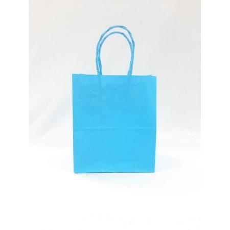Sacola de Papel 18x22x9 Azul BB