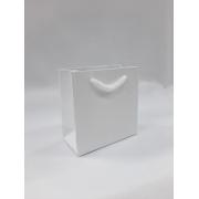 Sacola de Papel - Branco -acetinada- 8x8x4