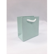 Sacola de Papel - Verde claro acetinada- 8x8x4