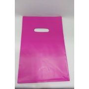 Sacola Plástica 20X30 PINK -alça boca de palhaço