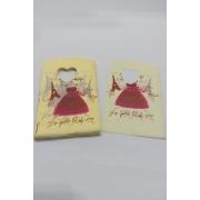 Sacola Plástica ( Amarela - vestido   ) 9x15 pacote com 100 unidades