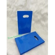 Sacola Plástica ( AZUL   ) 9x15 pacote com 100 unidades