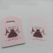Sacola Plástica ( rosa claro / vestido   ) 9x15 pacote com 100 unidades