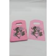 Sacola Plástica ( rosa / moça com bolsa ) 9x15 pacote com 100 unidades