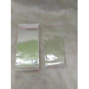 Saquinhos plástico adesivado 8x15 pacote com 100 unidades