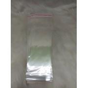 Saquinhos plástico adesivado 8x25 pacote com 100 unidades