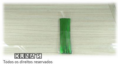 Arame Verde para fechar sacos de presente