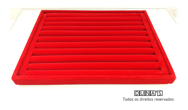 Bandeja Grd. Anel Veludo Vermelho 28x38x2.5
