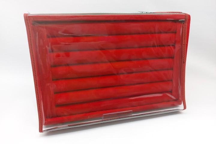 Bandeja M de veludo com Tampa Plástica Anel Vermelho
