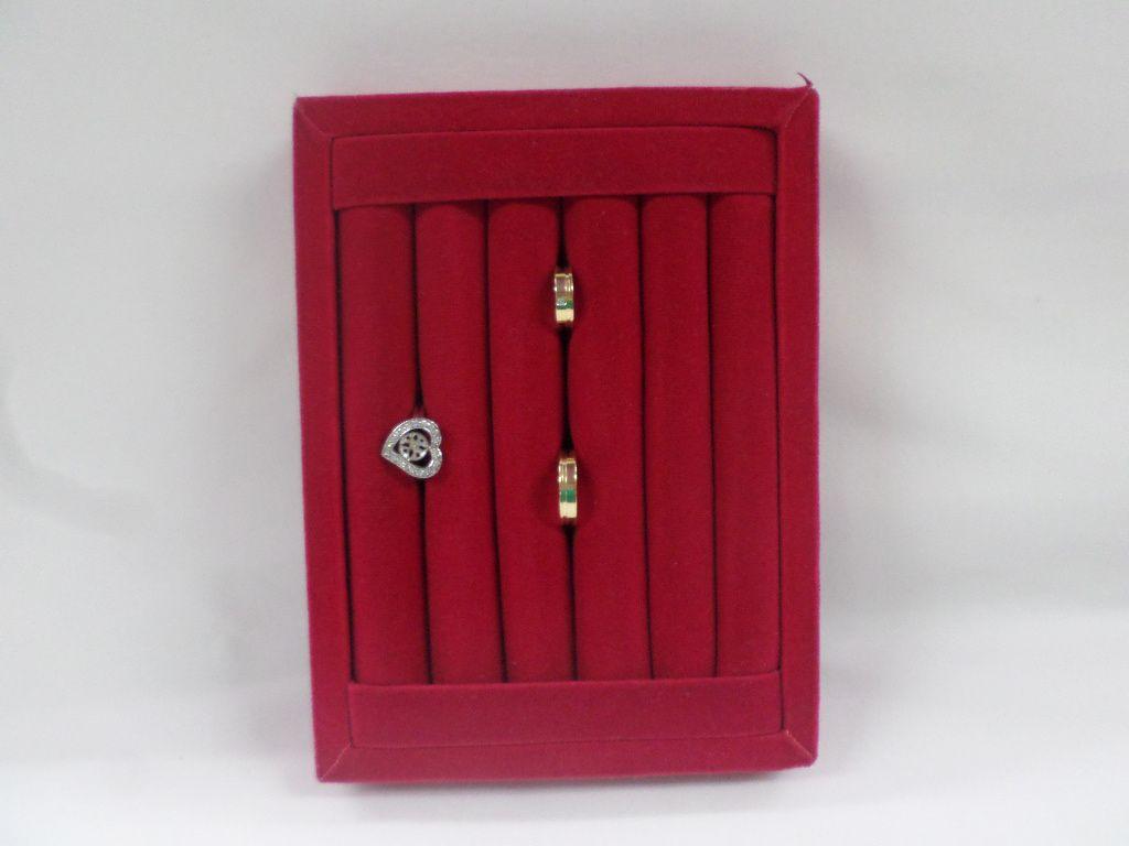 Bandeja mini Anel Veludo Vermelho 20x14x3