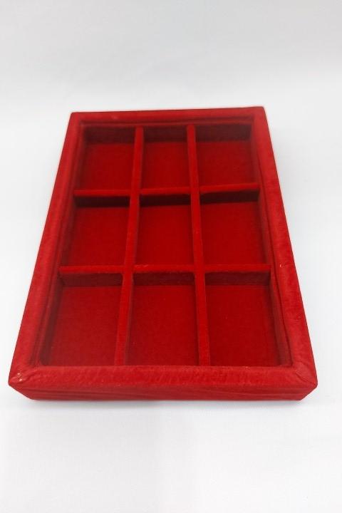Bandeja Mini Quadriculada Veludo Vermelho