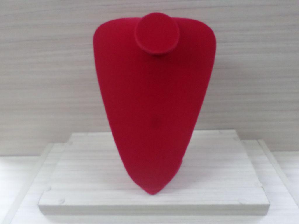 Busto G Veludo Vermelho 29x23x11