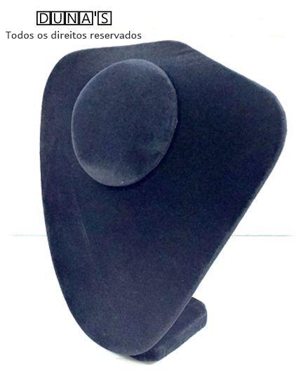 Busto P Veludo Preto 22x20x8