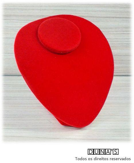 Busto Redondo Veludo Vermelho