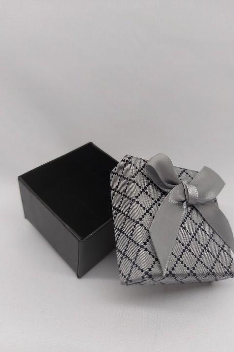 Caixa 5x5  cinza  quadriculada c/ 12 unidades