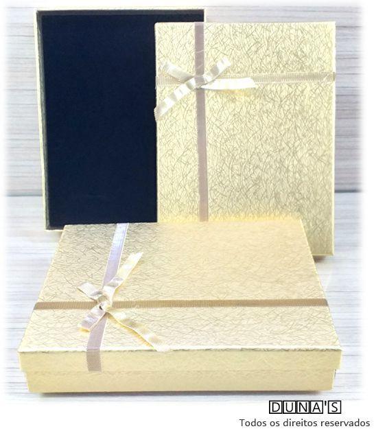 Caixa Conjunto  Dourada com laço