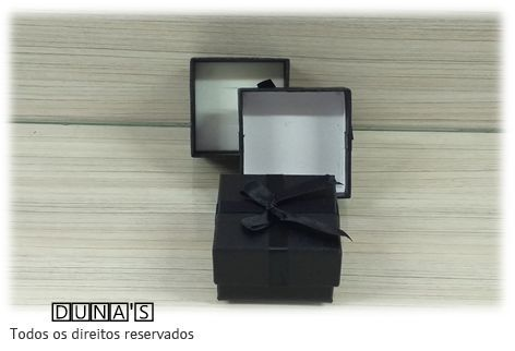 Caixa Conjunto Peq 5.5x5.5X3.5 Quadrada ( Sophia) Preta