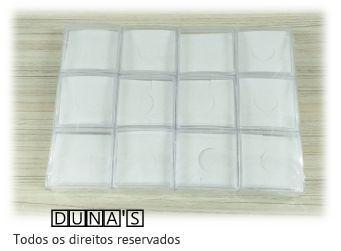 Caixa de Acrílico (fundo branco) para bijuterias