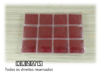 Caixa de Acrílico para bijuterias  (fundo vermelho)