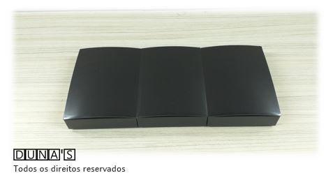 Caixa de Acrílico 8x11x3 Preta pacote com 6 unidades