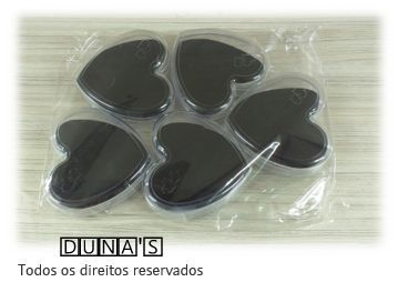 Caixa de Acrílico de Coração para conjunto 9x9x3 (fundo preto) pacote com 6 unidades