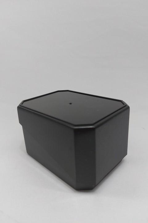 Caixa de Acrílico para Relógio Preto tampa corte diagonal 7x10x6 ( pacote com 12 pçs )
