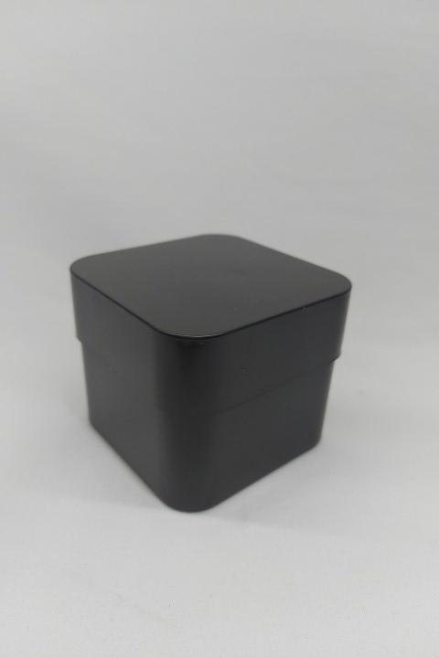 Caixa de Acrílico para Relógio Quadrada 8.5x8.5x6.5 Preto ( pacote com 12 pçs )