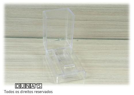Caixa de Acrílico para Relógio Transparente Retângular 5x8x5 ( pacote com 12 pçs )