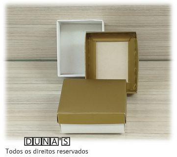 Caixa Dourada com espuma  6x7x3 para bijouteria ( pacote com 18 unidades)