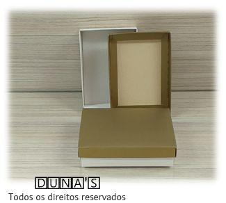 Caixa Dourado com espuma  8x11.5x3
