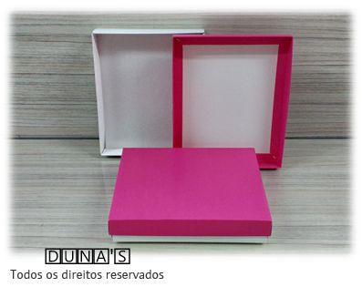 Caixa Pink com espuma  13x16x3 para bijouteria ( pacote com 10 unidades)