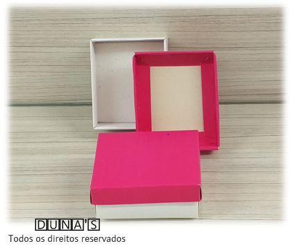 Caixa Pink com espuma  6x7x3