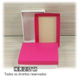 Caixa Pink com espuma  8x11.5x3 para bijouteria ( pacote com 12 unidades)