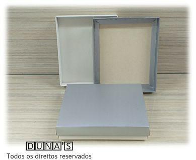 Caixa Prata com espuma  13x16x3