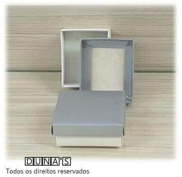 Caixa Prata com espuma  6x7x3
