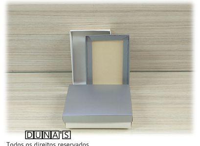 Caixa Prata com espuma  8x11.5x3 M- PCT/12 UNID