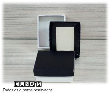 Caixa Preto com espuma  6x7x3 para bijouteria ( pacote com 18 unidades)