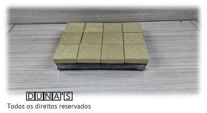 Caixa Rígida 4.5x4.5x3 Brilho Ouro ( pacote com 12 unidades ) anel/brinco