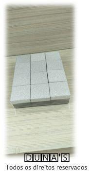 Caixa Rígida 4.5x4.5x3 Brilho Prata ( pacote com 12 unidades ) anel/brinco