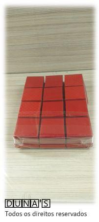 Caixa Rígida 4.5x4.5x3 Vermelho textura ( pacote com 12 unidades ) anel/brinco