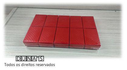 Caixa Rígida para Conjunto 5x8 Vermelho textura ( Pacote com 10 unidades)