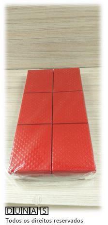 Caixa Rígida para Conjunto 7x9 Vermelho textura ( Pacote com 06 unidades)