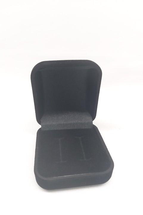 Caixa Veludo para Aliança Preto 5x5