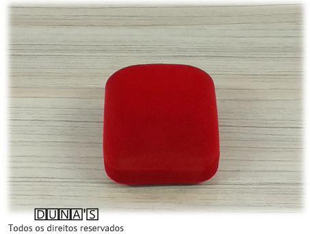 Caixa Veludo para Aliança Vermelho 5x5