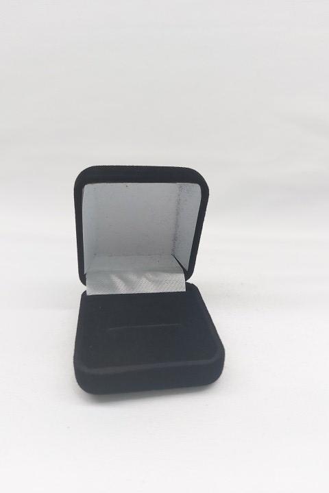 Caixa Veludo para Anel Preto 5x5
