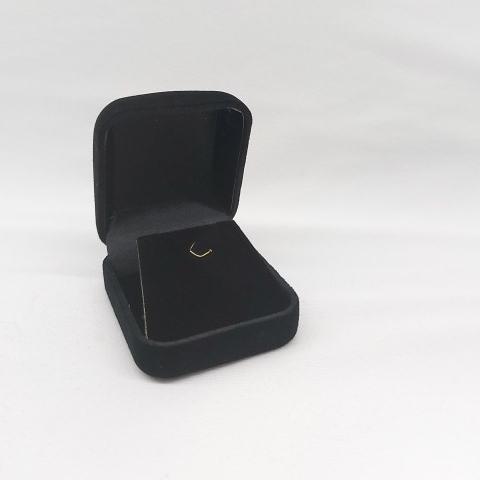 Caixa Veludo para Brinco Preto 5x5