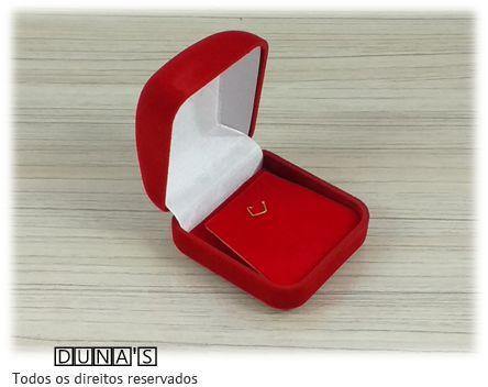 Caixa Veludo para Brinco Vermelho 5x5