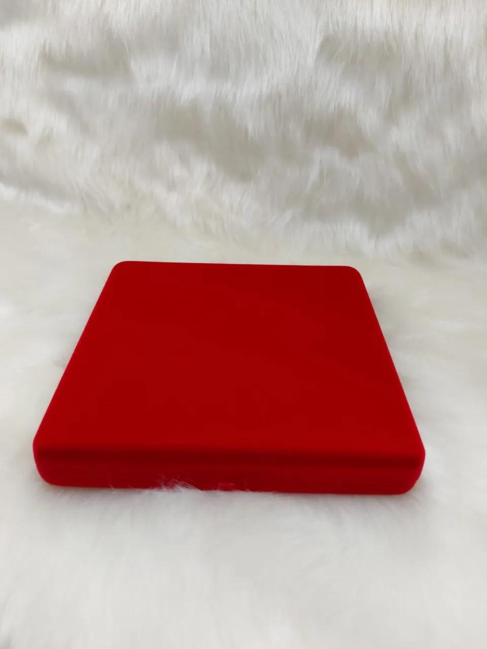 Caixa Veludo Vermelho G colar 16x16x2