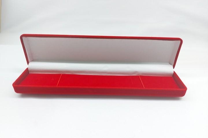 Caixa Veludo Vermelho Pulseira 21x5x5