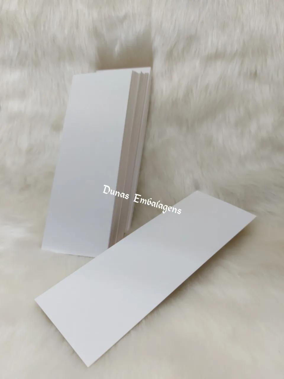 Cartela 8X22   Modelo : para Faixa - (100 unidades )  Cor : Branca